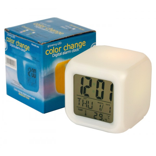 Luminous clock-chameleon CX 508 with alarm / thermometer