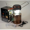 Camping folding lamp with solar panel G-85